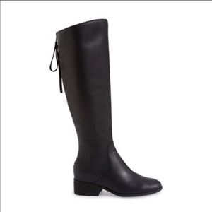 Lucky Brand Lanesha Riding Boots Black Leather 6